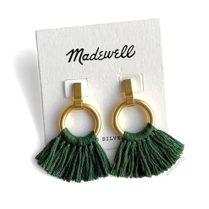 Madewell Tassel Hoop Earrings